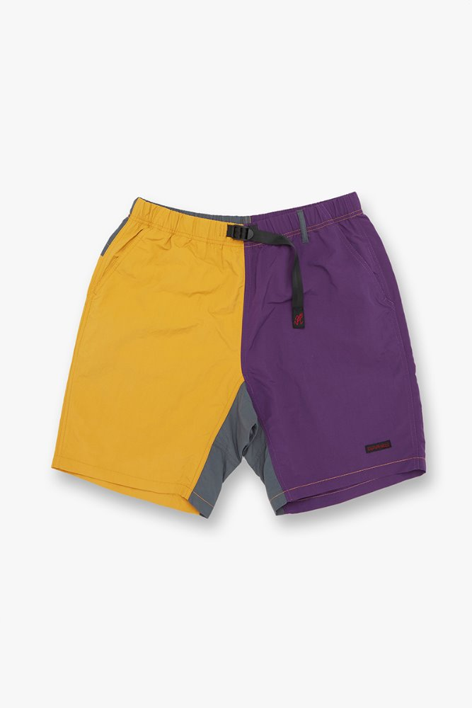 SHELL PACKABLE SHORTS MUSTARD x PURPLE