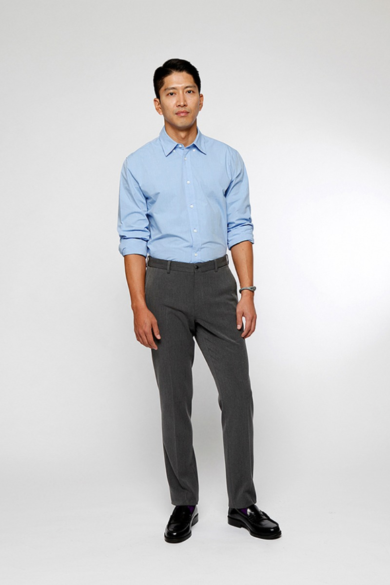 POSTMAN BANDING SLACKS GREY