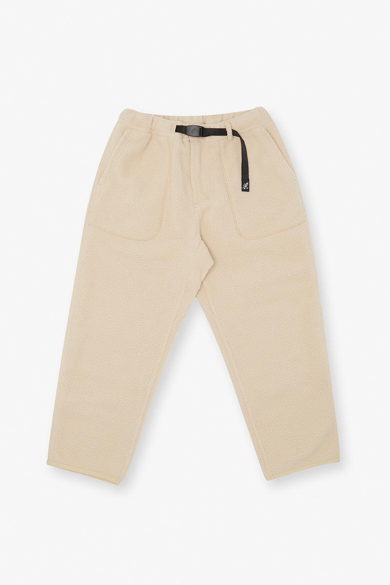 BOA FLEECE LOOSE TAPERED PANTS IVORY