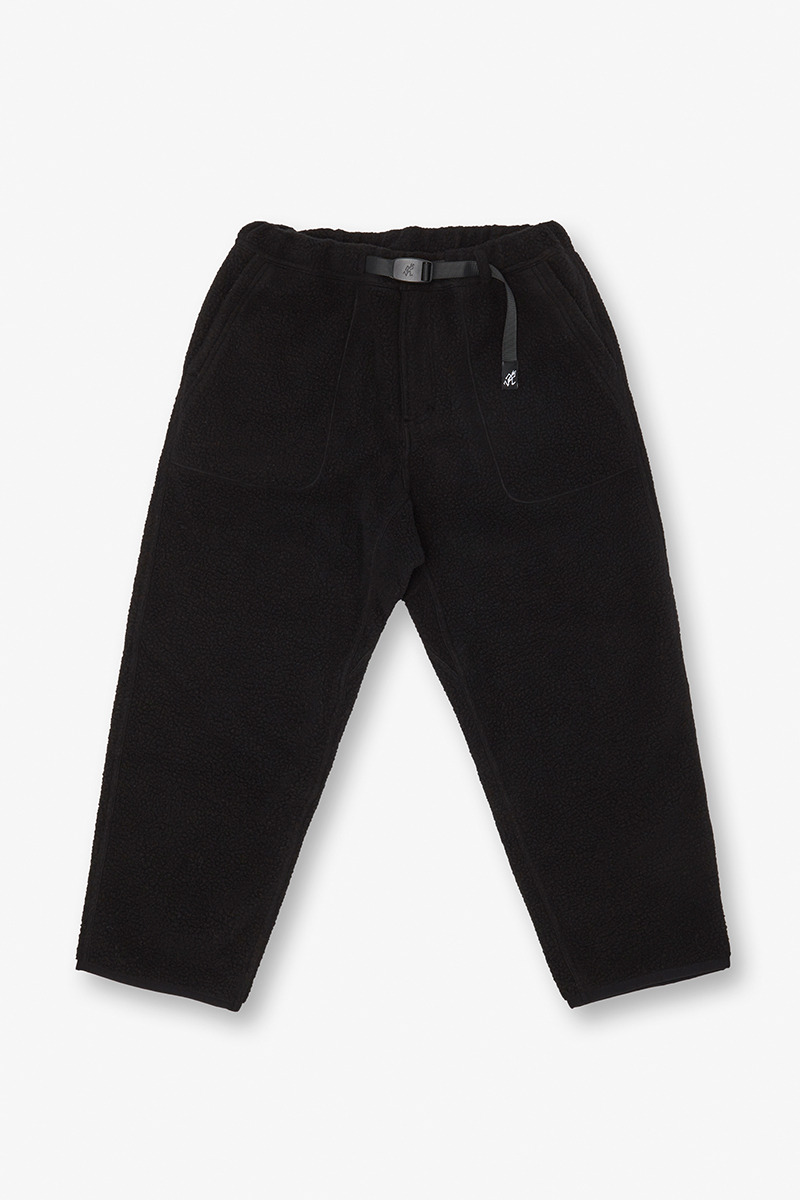BOA FLEECE LOOSE TAPERED PANTS BLACK