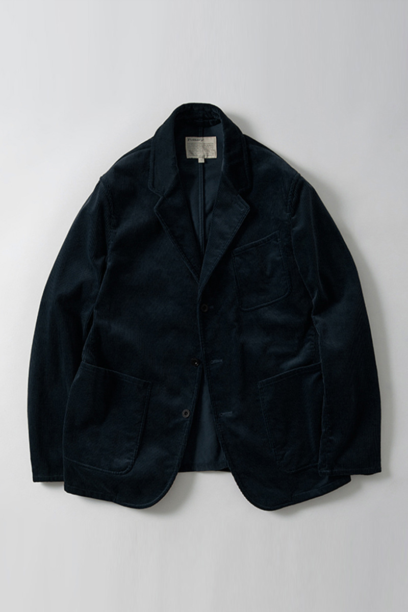 Washed Sports Jacket Navy Corduroy