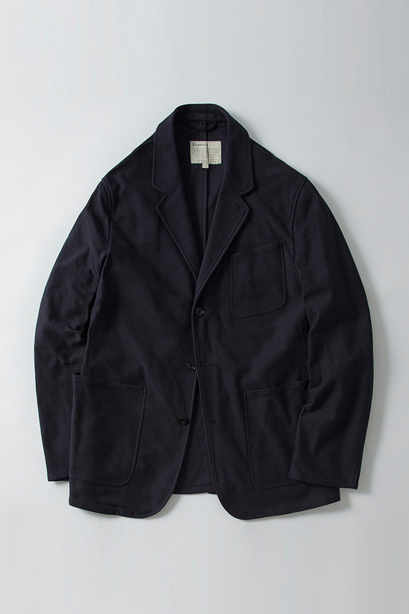Washed Sports Jacket Dark Navy Knit