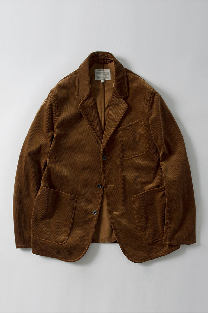 Washed Sports Jacket Tan Corduroy